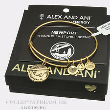Ii Rafaelian Gold Charm Bangle Authentic Alex and Ani Newport