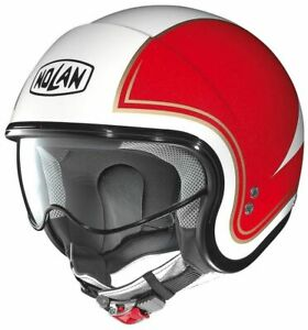 NEW Nolan N21 Italy 31 Helmets - White/Red/Green from Moto Heaven