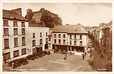 BR98428 castle square haverfordwest real photo valentine w2546 car voiture wales