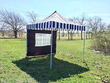 10'x10' Pop Up Canopy Party Tent EZ - Black Stripe - F Model Upgraded Frame