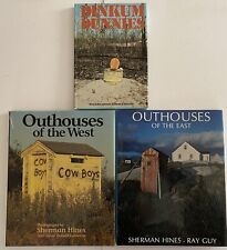 Outhouses of the West, Outhouses of the East, Dinkum Dunnies, 3 Hardcover Books