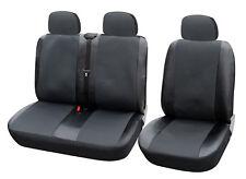 VW TRANSPORTER T4 T5 Sitzbezüge Schonbezüge 1+2 Sitzbezug Grau/Schwarz AS7323