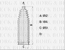 BSG3462 BORG & BECK STEERING GAITER KIT [Front] fits Citroen C4 Picasso 13 -