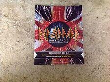 10x8inch Def Leppard promo vinyl Cling Like A Sticker music Lp Cd pyromania rock