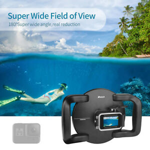 Underwater 45m/147ft Dome Dual Handheld Tray Dome Port Housing Case Diving SUP
