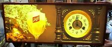 Large 1976 Schlitz Beer Hanging Light Up Sign Clock Beer Advertising