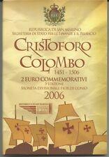 "SAN MARINO - 2 Euro comm. 2006 ""Cristoforo Colombo"" FDC in blister"
