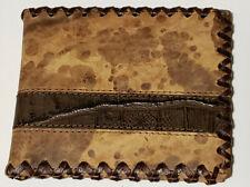 NOCONA Distressed w alligator print detail Bifold WALLET (SAME DAY SHIPPING)