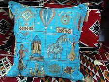 """Turkish High Quality Ottoman Style Chenille Cushion Pillow Cover 17"""" x 17"""" BLUE"""