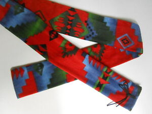 Traditional Archery RECURVE BOW SOCK Hopi Indian Pattern Polyester Fleece Case