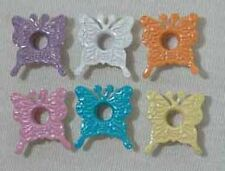 """25 PIECES MULTI COLORED 3/16"""" SPRING BUTTERFLIES EYELETS EMBELLISHMENTS"""