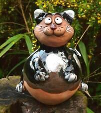 Gartenstecker Gartenkugel  Beetstecker Katze Felix Keramik Gartendeko Handarbeit