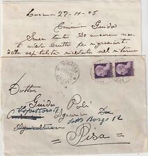 ITALY 1945 LIEUTENANCY PAIR 1L ON COVER FROM CUCIANA TO PISA