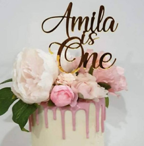 Personalised Acrylic Cake Topper ,Birthday, Anniversary, Weddings ANY Age/Name