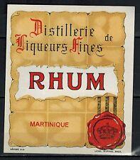 Etiquette d'Alcool - Rhum - Liqueur Fine - Martinique - Litho - Réf.n°62