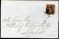 London Number 8 Maltese Cross 1841 1d Red Plate 36 (LK) c£450.00