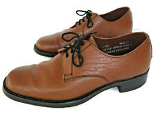 Savile Row Men's Brown UK Size 8 Leather Shoes Made In England Vintage 40W102