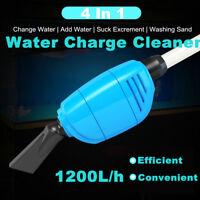 220V-240V Aquarium Vacuum Gravel Cleaner Fish Tank Water Change Siphon Pump AH