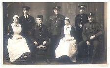 Postcard WW1 Royal Army Medical Corps RAMC Soldiers Nurses British Army RPPC 11