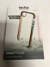 AUTHENTIC TECH21 IMPACTOLOGY IMPACT FRAME FOR IPHONE 5/5S - CLEAR