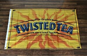 New Twisted Tea Banner Flag Hard Iced Tea Alcohol Bar Advertising Promotional