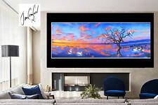 Australia non aboriginal painting art original birds landscape By Jane Crawford