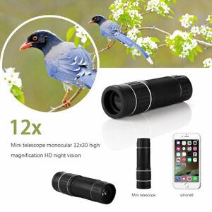 12X30 Spotting Telescope HD Pocket Travel Monoculars Big Vision BAK4 Waterproof