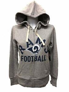 Los Angeles Rams Women's Post Season Full Zip Hoody Sweatshirt - Gray