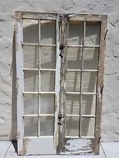 """Pair of Antique Vintage Wood French Doors (48""""x80"""")"""