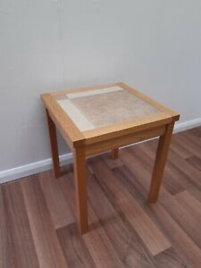 Tiled top Oak Side Table By Anbercraft