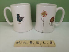 ZOE CORNEY ~BIRDS & FLOWERS~  mugs x 2
