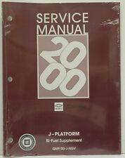 OEM 2000 Chevrolet Bi-Fuel Supplement J-Platform Service Manual