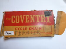 "RARE1"" PITCH COVENTRY ROLLER CHAIN 1"" X 1/8"""" 1940'S /1950'S NOS NIB"
