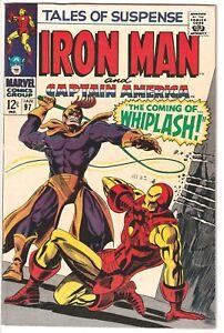 1968 TALES OF SUSPENSE #97 1st WHIPLASH Marvel Comics Ironn Man Black Panther