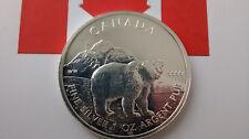 MONEDA DE PLATA PURA CANADA 5 DOLARES 1 ONZA  AÑO 2011 0.999/1000 S/C OSO.