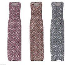 Argyle, Diamond Regular Size Sleeveless Dresses for Women