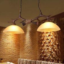 Vintage Antler Chandelier Light  Deer Horn Restaurant Dining Pendant Lamp