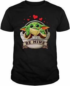 Be Mine Happy Valentine's Day Baby_Yoda Heart Love Shirt for Boys Girls Kid