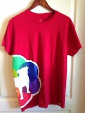 Zynga Games GAY PRIDE 2012 Play With Friends Dog Red RAINBOW TEE T-Shirt Red L
