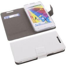 Tasche für Mobistel Cynus E5 Book-Style Schutz Hülle Handytasche Buch Weiß