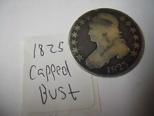 1825 Capped Bust Half Dollar. Low Mintage Nice 90% Silver Coin! Edge Lettering
