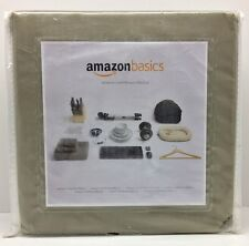 Amazon Basics Microfiber Twin Sheet Set Olive Green Color New