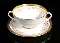 Beautiful Royal Doulton Belmont Cream Soup Bowl And Saucer
