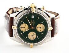 BREITLING Chronomat Ref# B13050 Automatic Green Dial Chronograph Wristwatch
