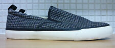 Next Tweed Slip On Trainers Shoes Size 8/42 Black Grey RRP £29.99 Uk Freepost