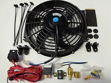 "10"" Electric Fan 1500 CFM + Wiring Install Kit Complete Thermostat 50 Amp Relay"