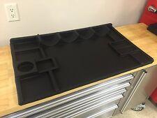 Gift Idea! Heavy Rubber Hobby R/C  Car work station, bench mat organizer, tools