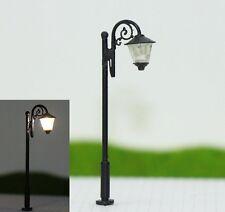S142 - 10 Stück Straßenlampen mit LED 5cm Set Parkleuchten nostalgisch