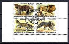 Animaux Félins Burundi (146) série complète 4 timbres oblitérés