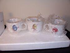 M&M Collectible Cyrk 3-D Large Ceramic Mugs - Set of 3